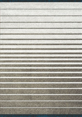 Boulevard Brown/Cream Gradient Stripes Glitz Low Pile Shag Medium Rug