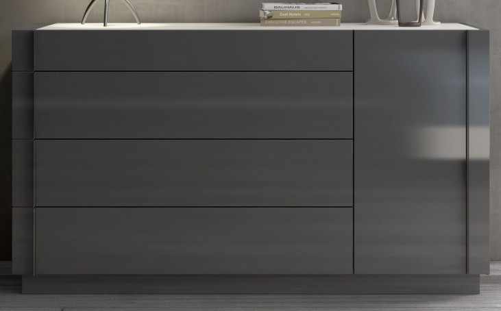 Braga Natural Grey Lacquer Dresser