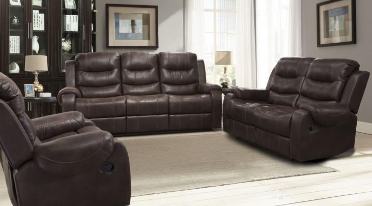 Brahms Mahogany Dual Reclining Living Room Set