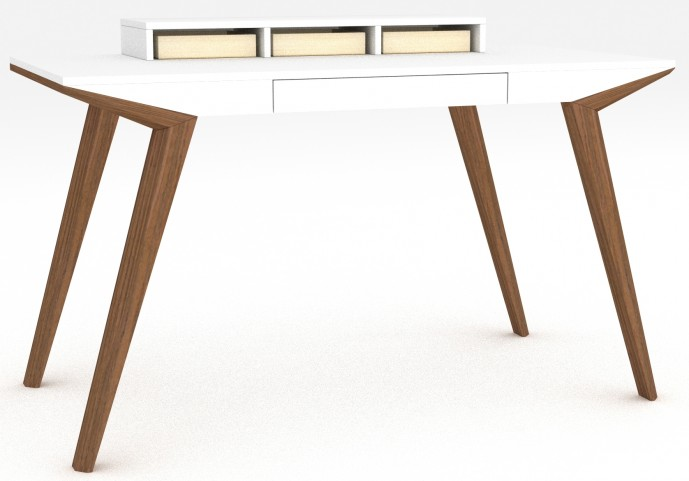 Branden-2 White Desk