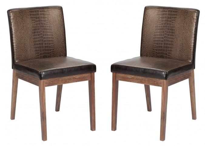 Branson Crocodile Dining Chair Set of 2