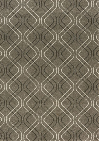 Breeze Taupe/Cream Layered Morrocan Large Rug