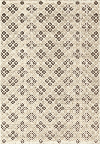 Breeze Brown/Cream Diamond Medium Rug