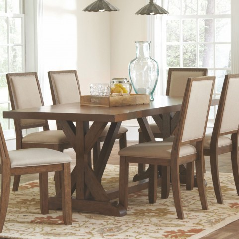 Bridgeport Weathered Acacia Rectangular Dining Table