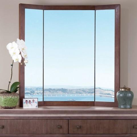 Brookline Walnut Tri Fold Mirror