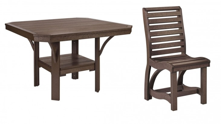 "St Tropez Chocolate 45"" Square Dining Room Set"