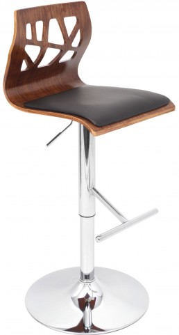 Folia Black Barstool