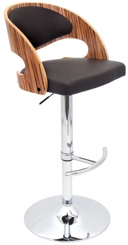 Pino Zebra Brown Barstool