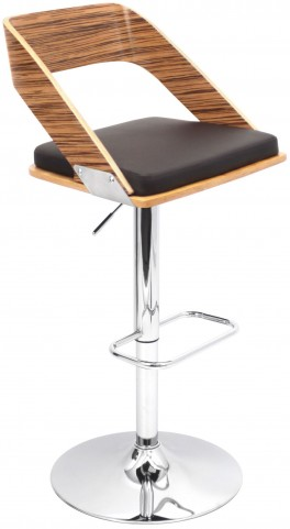 Vuno Brown Barstool