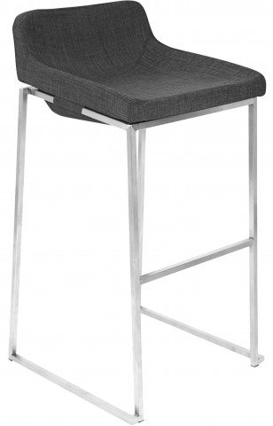 Satori Stackable Charcoal Barstool
