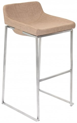 Satori Stackable Medium Brown Barstool