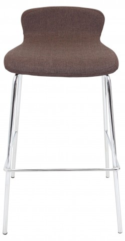 "Fabric Stackable 30"" Brown Barstool"