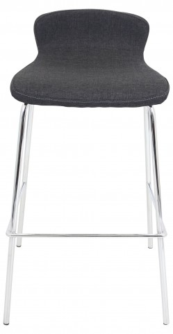 """Fabric Stackable 30"""" Charcoal Barstool"""