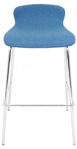 "Fabric Stackable 30"" Blue Barstool"