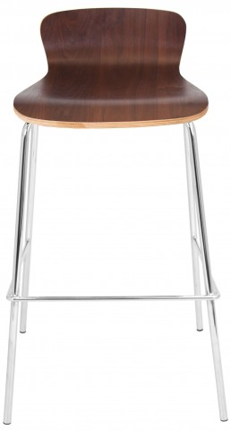 Wood Stackable Walnut Barstool