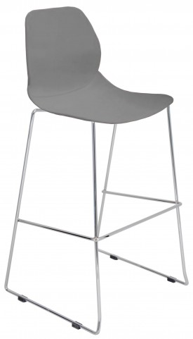 Droplet Stackable Gray Barstool