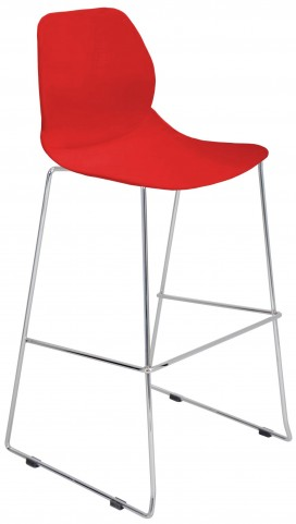 Droplet Stackable Red Barstool