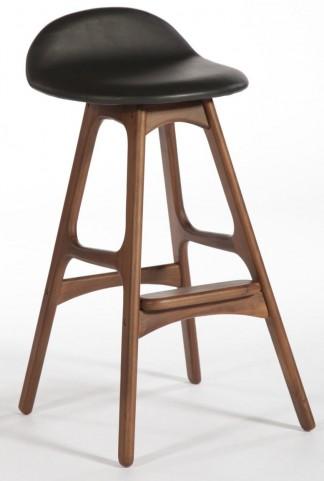 Modern Classics Torbin 1 Walnut Black Bar Stool