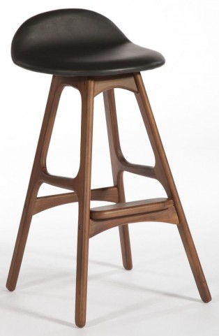 Modern Classics Torbin 2 Walnut Black Bar Stool