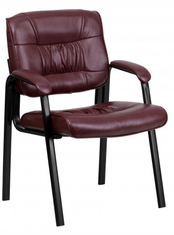 Bonded Leather Burgundy Reception Chair
