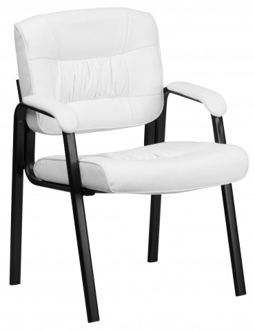 Bonded Leather White Reception Chair
