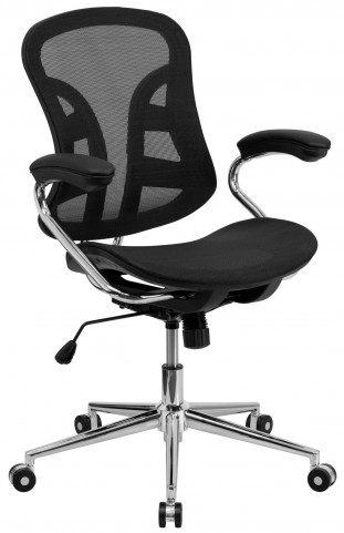 Mid-Back Chrome Computer Chair