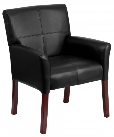 Black Bonded Leather Executive Side Chair