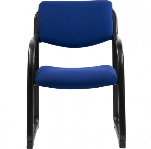 Navy Executive Side Chair with Sled Base