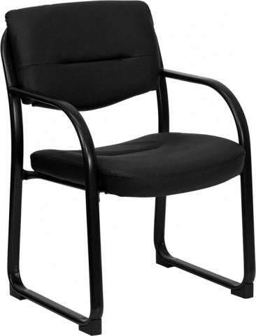 1000207 Black Sled Base Executive Side Chair
