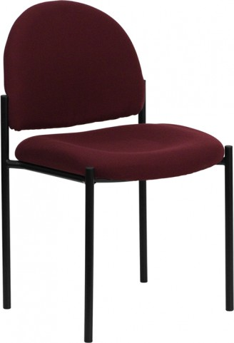 1000209 Burgundy Comfortable Stackable Steel Side Chair