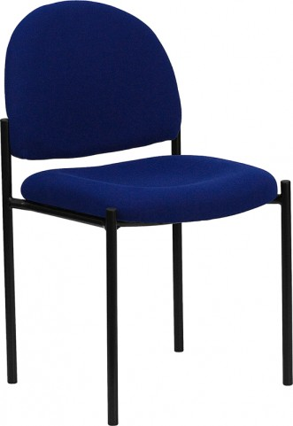 1000212 Navy Comfortable Stackable Steel Side Chair