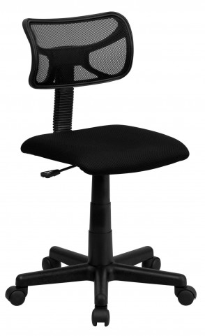 Mid-Back Black Nylon Task Chair