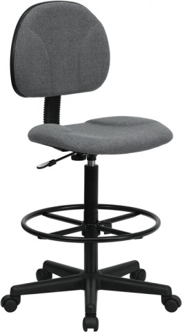 Gray Multi Functional Ergonomic Drafting Stool (Adjustable Range 26''-30.5''H or 22.5''-27''H)