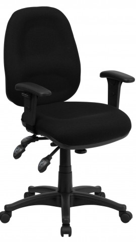 Multi Functional Black Swivel Computer Chair