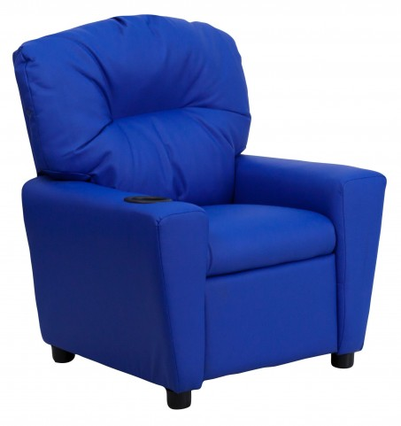 1000430 Blue Kids Recliner with Cup Holder