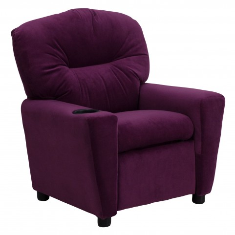 1000440 Purple Kids Recliner with Cup Holder