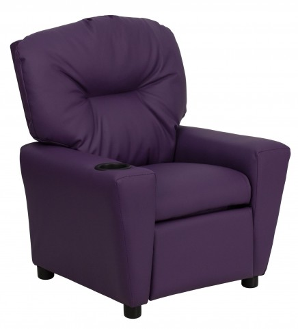 1000444 Purple Kids Recliner with Cup Holder