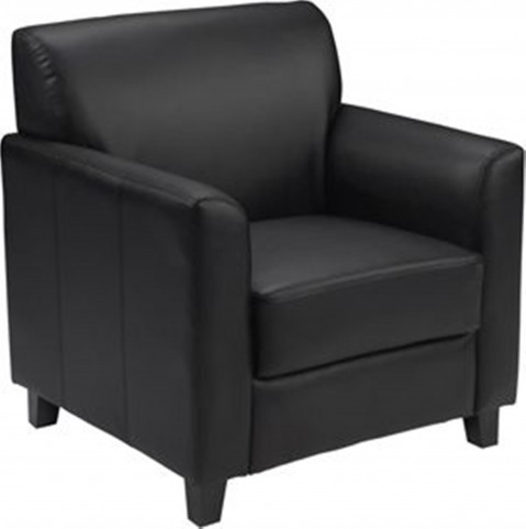 Hercules Diplomat Series Black Leather Chair