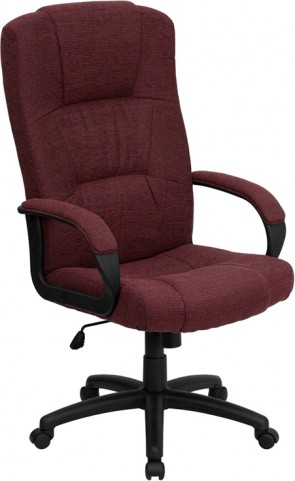 1000488 High Back Burgundy Fabric Executive Office Chair