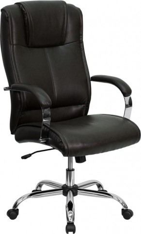 High Back Executive Office Chair Brown