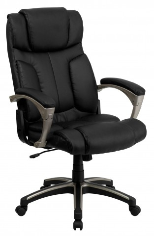 Tall Folding Black Executive Office Chair