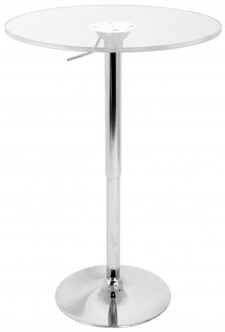 Adjustable Clear Bar Table