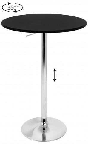 Tlelia Adjustable Black Bar Table