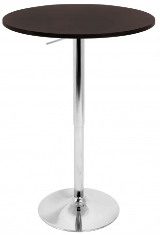 Tlelia Adjustable Brown Bar Table
