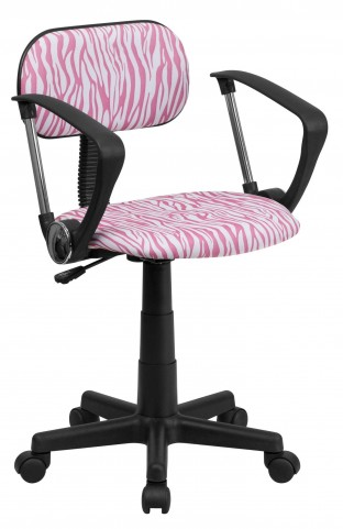 1000541 Zebra Print Computer Arm Chair