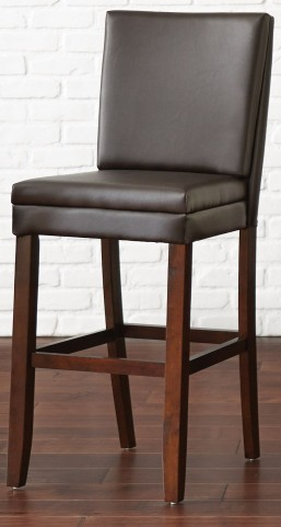 Bennett Brown Vinyl Bar Chair