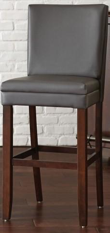 Bennett Gray Vinyl Bar Chair