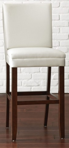 Bennett White Vinyl Bar Chair