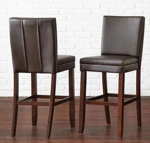 Bennett Brown Vinyl Counter Chair Set of 2