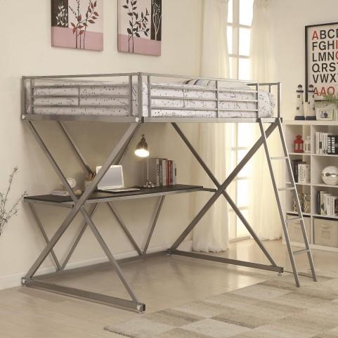 400034F Full Workstation Loft Bed with Desk